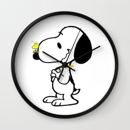 snoopy_with friend Wall Clock
