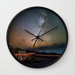 Milky Way Over The Atlantic Ocean Wall Clock