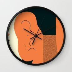 Angry talking makes the ear cranky Wall Clock