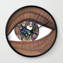 Magic in Her Eyes Wall Clock