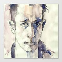 kerouac Canvas Prints featuring Jack Kerouac by Germania Marquez