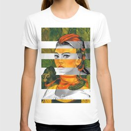 Frida Kahlo's Self Portrait with Monkey & Sophia Loren T-shirt