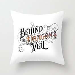 Behind the Dragon's Veil (The Dragarri Series by Christina Jolly) Throw Pillow