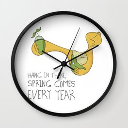 Spring Comes Every Year Wall Clock