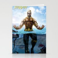 aquaman Stationery Cards featuring Aquaman by Art By AntB