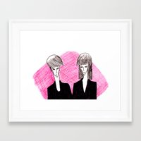 vampire Framed Art Prints featuring Vampire by Luana Rios