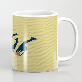 Extended long giraffes' shadows Coffee Mug