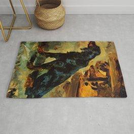 """Henri de Toulouse-Lautrec """"Dun, a Gordon Setter Belonging to Comte Alphonse de Toulouse Lautrec"""" Rug"""