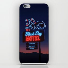 The Black Dog Motel iPhone Skin
