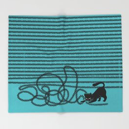 Unravel (in Blue) Throw Blanket