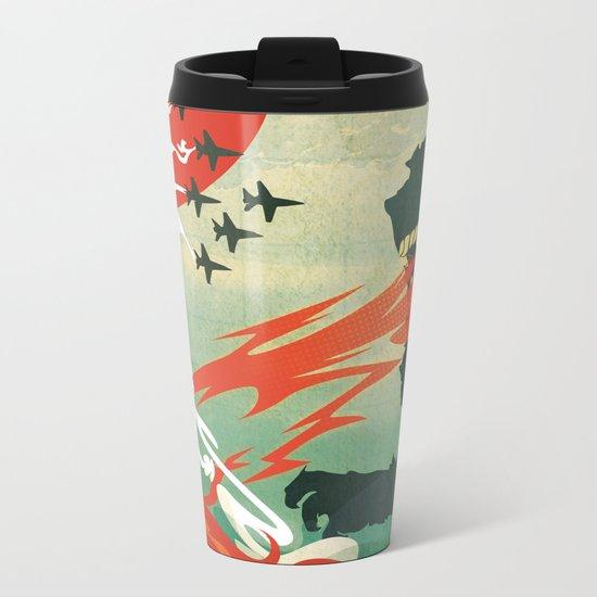 Tokyo or Bust Metal Travel Mug