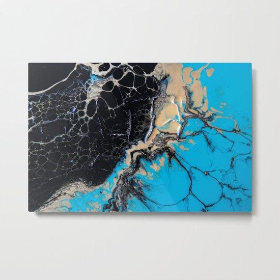 baby blue marble Metal Print