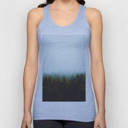 Landscape Pine Forest Green Evergreen Trees Minimalist Simple Landscape Unisex Tank Top