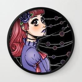 Pink Hair Gothic Lolita Wall Clock