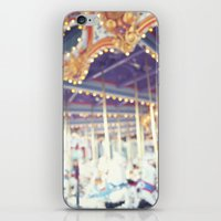 carousel iPhone & iPod Skins featuring Carousel  by Bree Madden