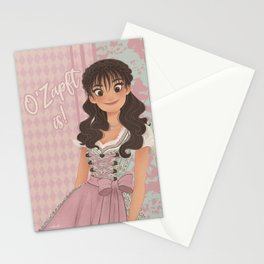 OKTOBERFEST Pink Dirndl Girl Stationery Cards