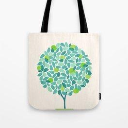 Mid Century Lime Tree Tote Bag