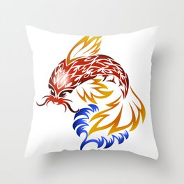 Jumping Koi Throw Pillow
