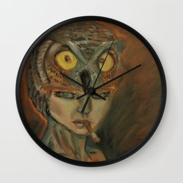 stare of an owl Wall Clock