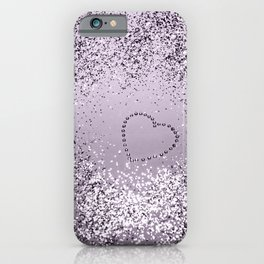 Sparkling LAVENDER Lady Glitter Heart #1 (Faux Glitter) #decor #art #society6 iPhone Case