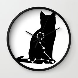 pisces cat Wall Clock