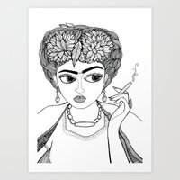 Ode to Frida Art Print