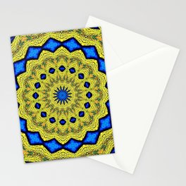 Peacock Feathers Mandala Kaleidoscope Abstract 1 Stationery Cards