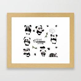 Wilfred the Worried Panda Framed Art Print