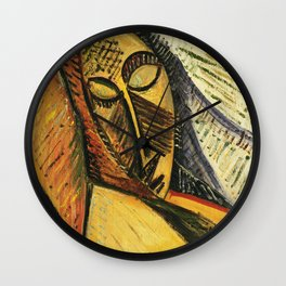 Pablo Picasso - Head of A Sleeping Woman Wall Clock