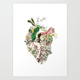 Vintage Botanical Heart Art Print