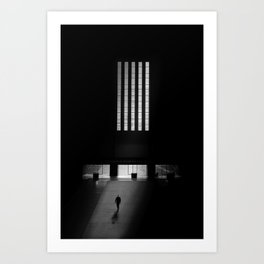black white photo Art Print