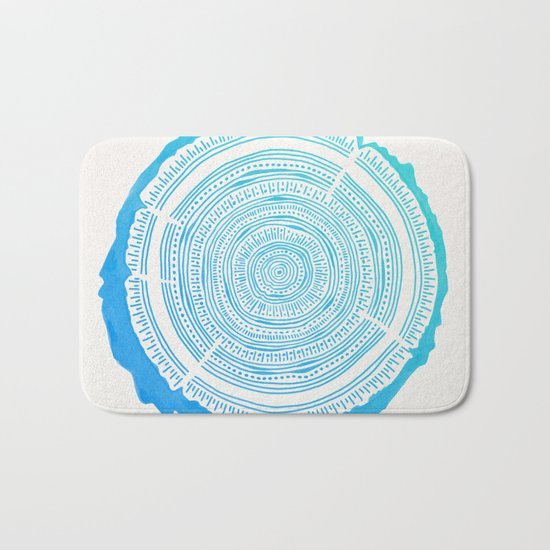 Douglas Fir – Blue Ombré Bath Mat