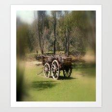 Wagon Wheels Art Print