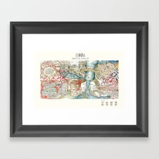 urban metabolism Framed Art Print