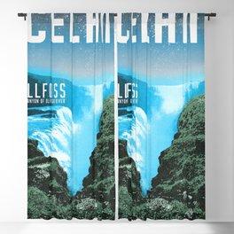 Iceland: Gullfoss Blackout Curtain