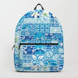 New Hawaiin Motif in Blue Backpack