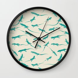Lizard Tail Party Wall Clock
