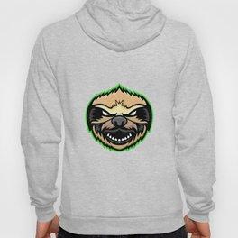 Angry Sloth Mascot Hoody