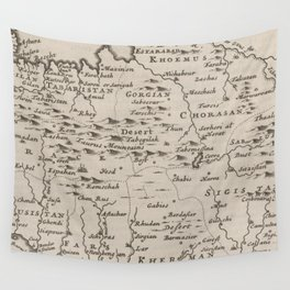 Map of Persia, 1701 Wall Tapestry