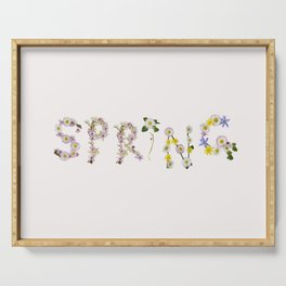 SPRING - Flower Typography Serving Tray