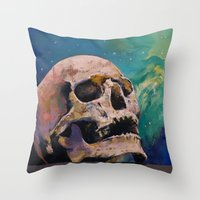 fullmetal alchemist Throw Pillows featuring The Alchemist by Michael Creese