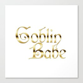 Labyrinth Goblin Babe (white bg) Canvas Print