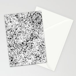 Splatter Design in Black, Grey, and White Stationery Cards