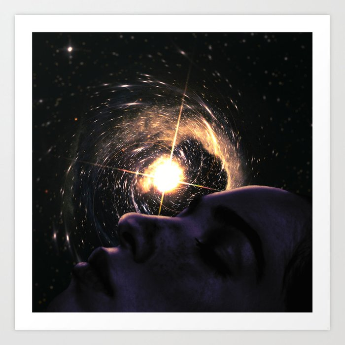 Dreaming The Universe Astronomy Dreamscape Art Print