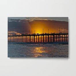 Surf City Sunset 3/13/15    Metal Print