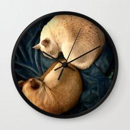 ying and jang Wall Clock
