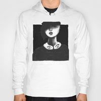 contemporary Hoodies featuring Contemporary Black and White Collar  by Ben Geiger