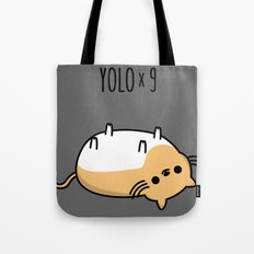 YOLO x 9 Tote Bag