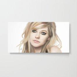Avril Lavigne Metal Print