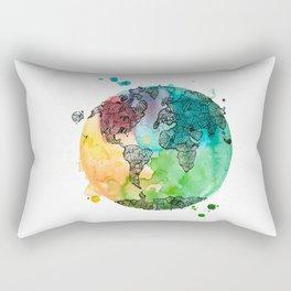 World Banded together Rectangular Pillow